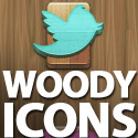 Post Thumbnail of Freebie: Woody Social Media Icons Set