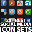 Post thumbnail of 20+ Best Social Media Icon Sets In 2011