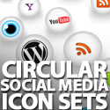 Post Thumbnail of 35+ Circular Social Media Icon Sets