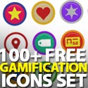 Post Thumbnail of 100 Free Symbly Gamification Icons Set
