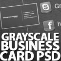 Post Thumbnail of Freebie: Grayscale Business Card PSD