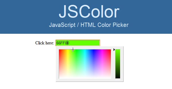 JS Color Simple JavaScript HTML Color Picker