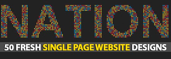 Post image of 50 Fresh Single Page Website Designs