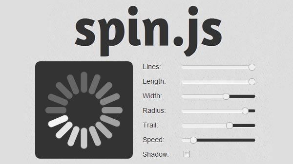 Customizable Loading Indicator Without Image Spin Js