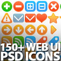 Post Thumbnail of 150+ Beautiful Web UI PSD Icons