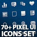 Post Thumbnail of 70+ Hand Crafted Pixel UI Icons Set with PSD