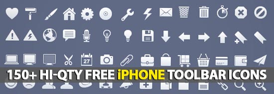Post image of 150+ Hi-Qty Free iPhone Toolbar Icons