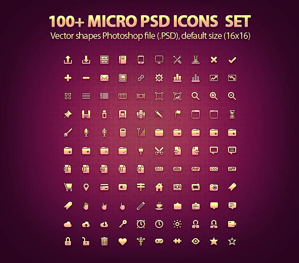 Free PSD Icons Set