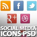 Post Thumbnail of Classic Social Media Icons PSD