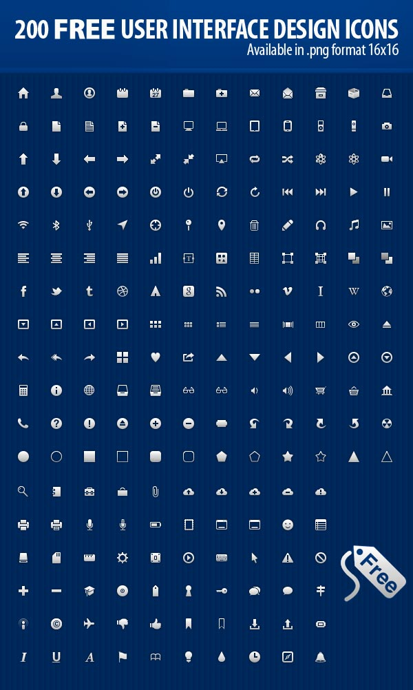 Free User Interface Design Icons