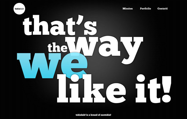 Big Typography in Web Designing