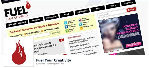 Fuel Your Creativity Facebook Timeline Cover
