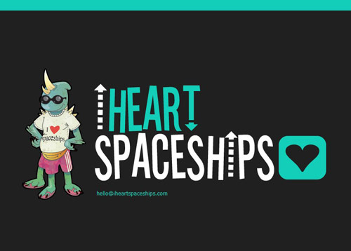 I Heart Spaceships Coming Soon Page Design