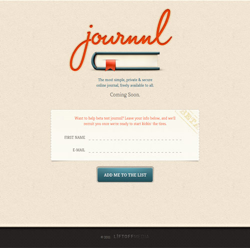 Journnl Coming Soon Page Design