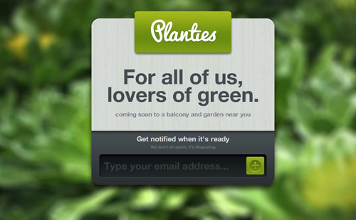Planties Coming Soon Page Design