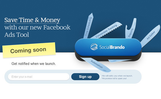 Social Brando Coming Soon Page Design