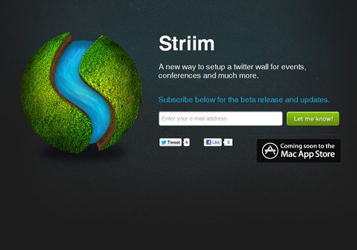 Striim Coming Soon Page Design