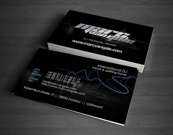 Marc Van Gale Business Card Design