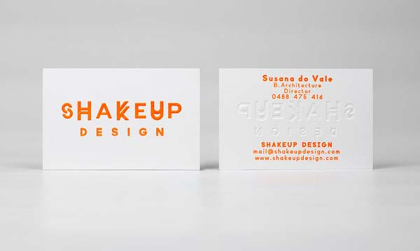 Shakeup Design/Architecture Identity Business Card Design