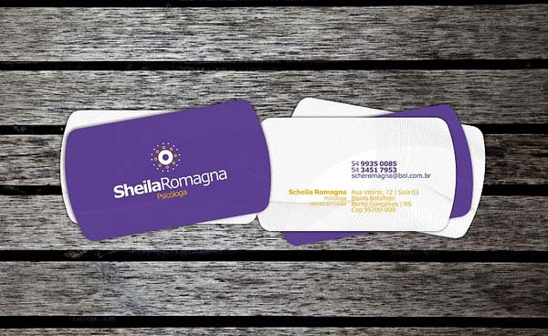 Purple Business Card Design