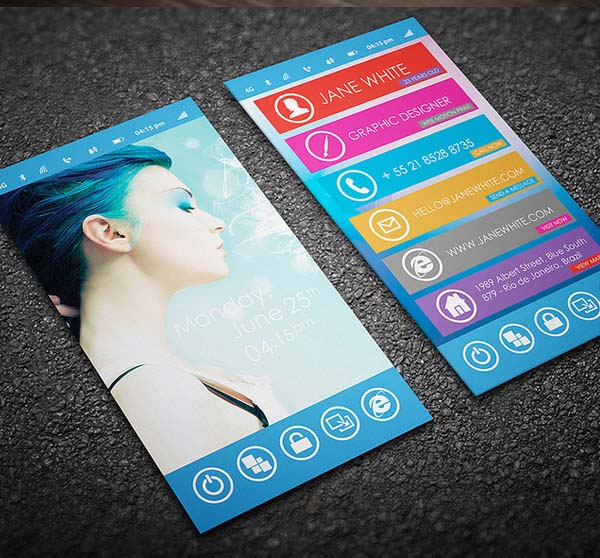 Phone Business Card Design