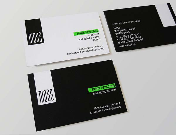 Moss business cards