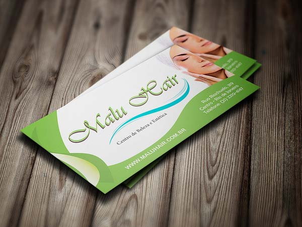 Malu Hair Business Card Design