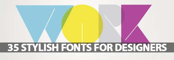 Free Fonts: 35 Stylish Fonts For Designers