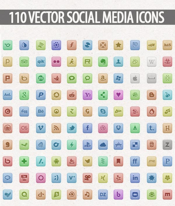 Vector Social Media Icons