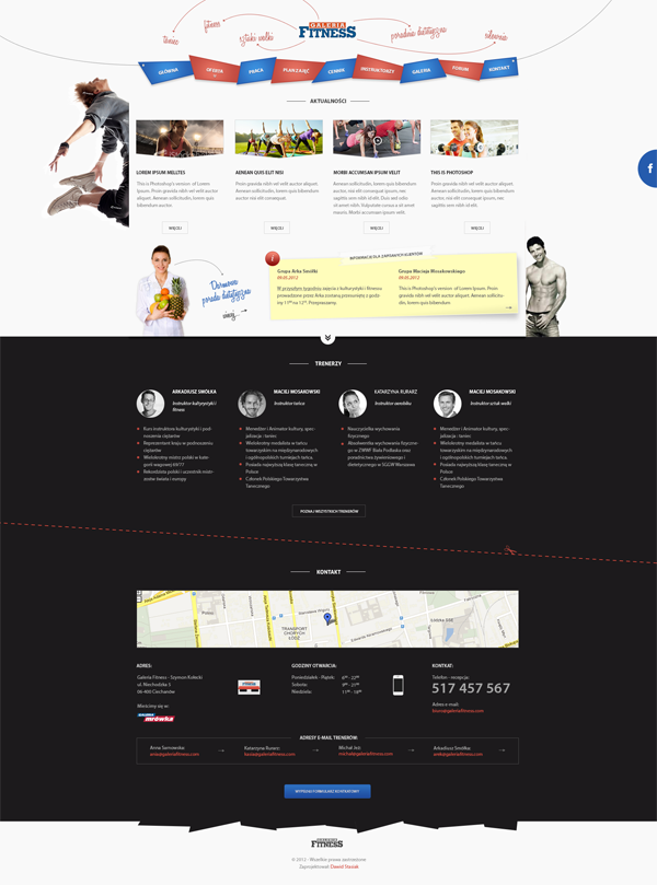 Fitness Club Web Template