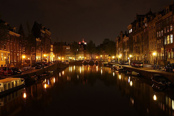 Amsterdam at night (The Netherlands)
