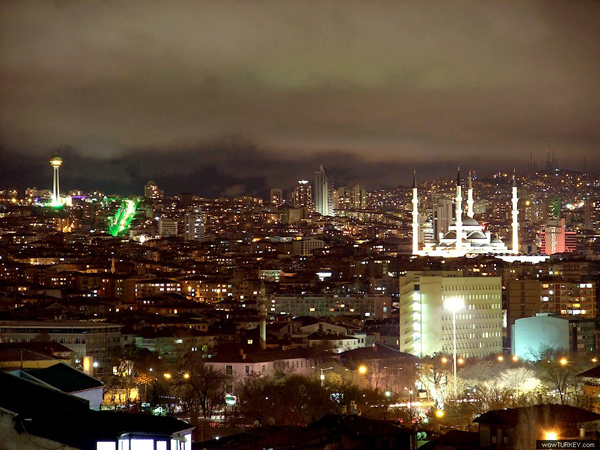 Ankara at night (Turkey)
