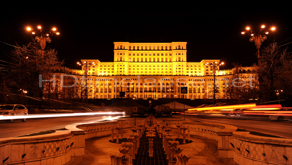 Bucharest at night (Romania)