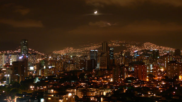 Caracas at night (Venezuela)