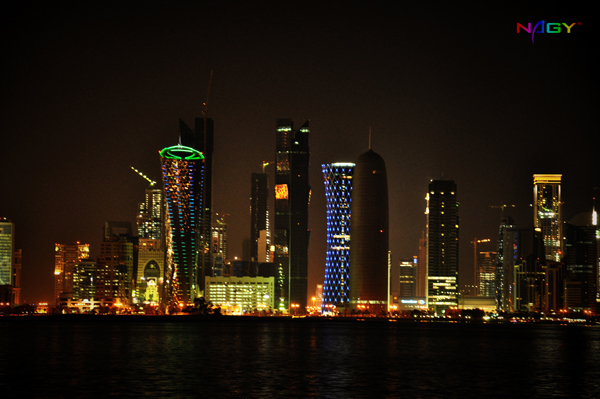 Doha at night (Qatar)