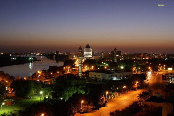 Khartoum at night (Sudan)