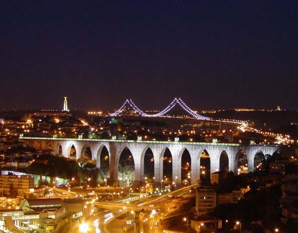 Lisbon at night (Portugal)