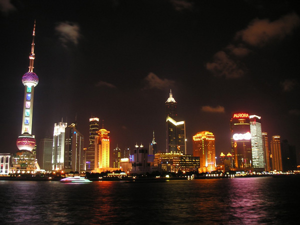 Shanghai at night (China)