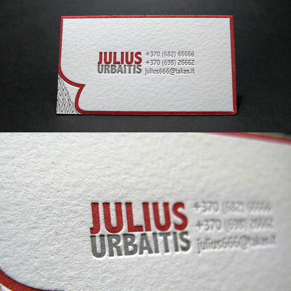 Letterpress Business Cards Design