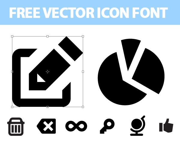 Free vector icons font