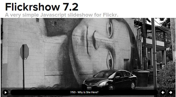 Javascript Slideshow For Flickr Images :Flickrshow