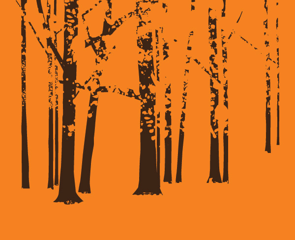 Autumn Park Vector Graphic