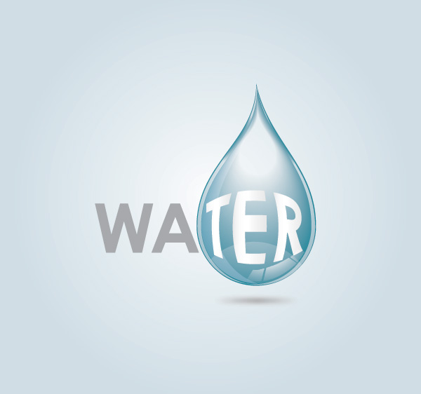 Water Drop Vector Graphic