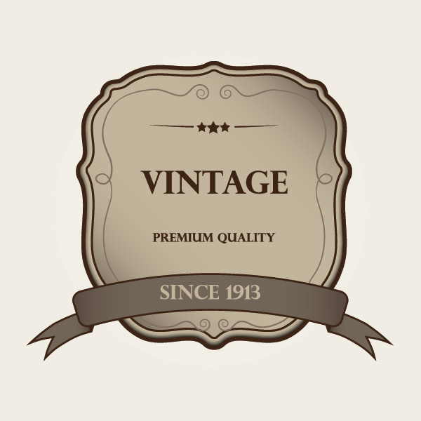 Vintage Label Vector Graphic