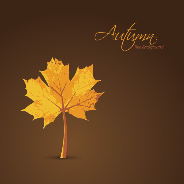 Autumn Tree Background Vector Graphic