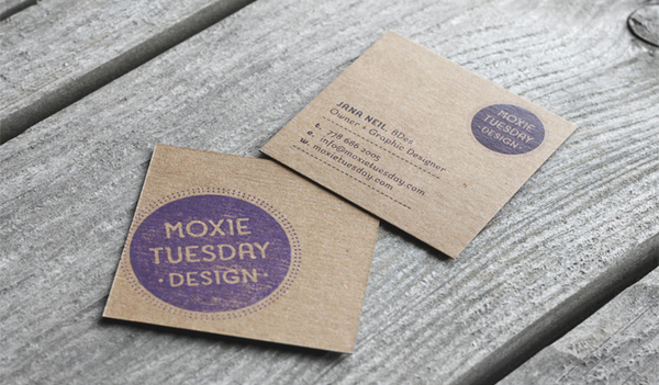 Mini Square Business Cards Design