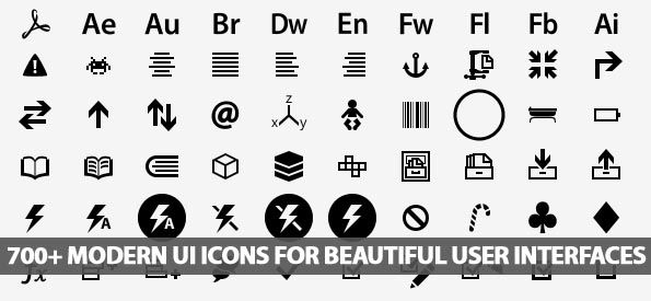 700+ Modern UI Icons For Beautiful User Interfaces