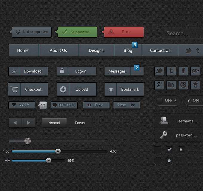 Free UI Kits For Web and Graphic Designers 20