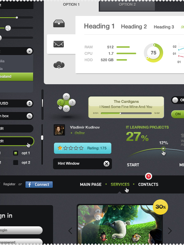 Free UI Kits For Web and Graphic Designers 9