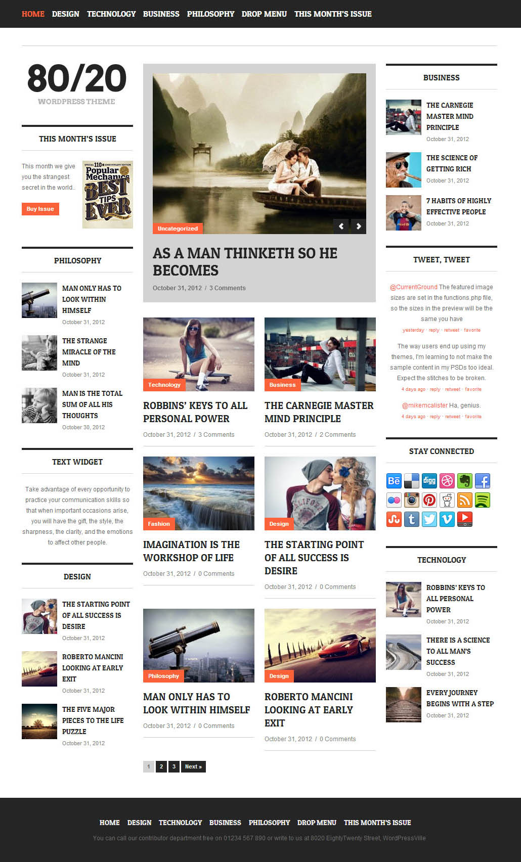 Responsive WordPress Themes – Graphic design blog, inspiring ...